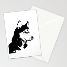Siberian Husky Dog Art Stationery Cards