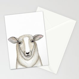 Sheep Drawing, Lamb Art, Farmhouse Decor Stationery Cards