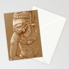 mayan nobleman brown Stationery Cards