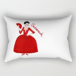 Sassenach in red dress (Outlander) Rectangular Pillow