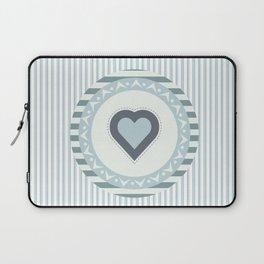 Blue heart Laptop Sleeve