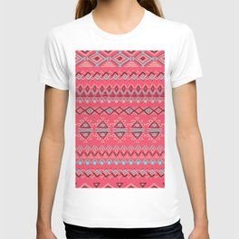 abstract geometric line patterns T-shirt