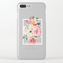 dont blame me roses Clear iPhone Case