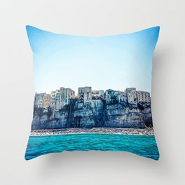 Seacoast near the wonderful village of Tropea in Calabria Italy Throw Pillow