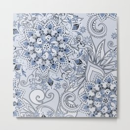 Mandalas and flowers Metal Print