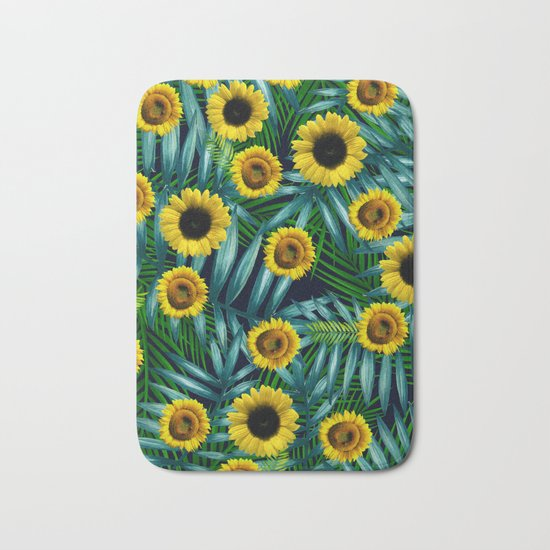 Sunflower Party #2 Bath Mat