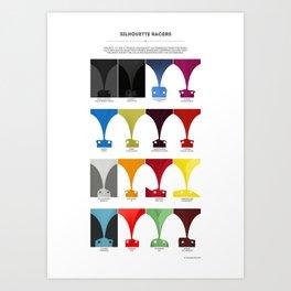 Silhouette Racers Art Print