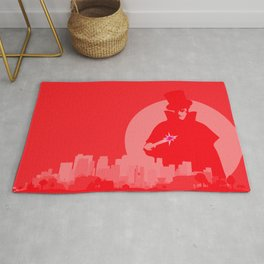 Jack The Ripper Red Background Rug