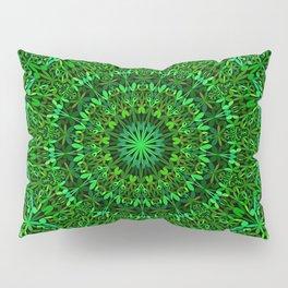Green Spiritual Mandala Garden Pillow Sham
