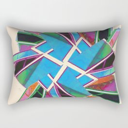 Window Of Opportunity Abstract Beige Rectangular Pillow