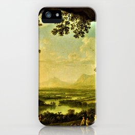 Italian Landscape with an Ancient Festival by Jakob Philipp Hackert iPhone Case