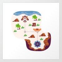 Overworld: Beach Art Print
