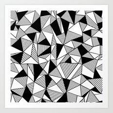 Ab Lines with Black Blocks Art Print