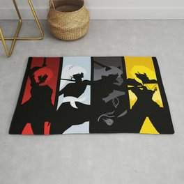Silhouetted Huntresses Rug