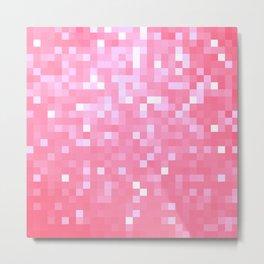 Bubblegum Pink Pixel Sparkle Metal Print