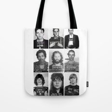 Rock and Roll Mug Shots Tote Bag