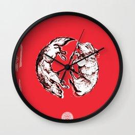 Chasing Wolves Wall Clock