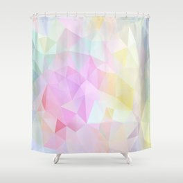 Abstract print of triangles, polygon in pastel colors Shower Curtain
