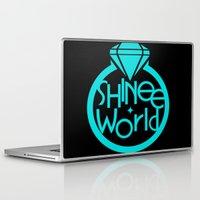 shinee Laptop & iPad Skins featuring SHINee World I Logo by Korea&Japan