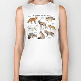 Foxes of the World Biker Tank