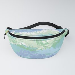 Pastel waves 3 Fanny Pack