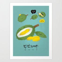 Durian Art Print