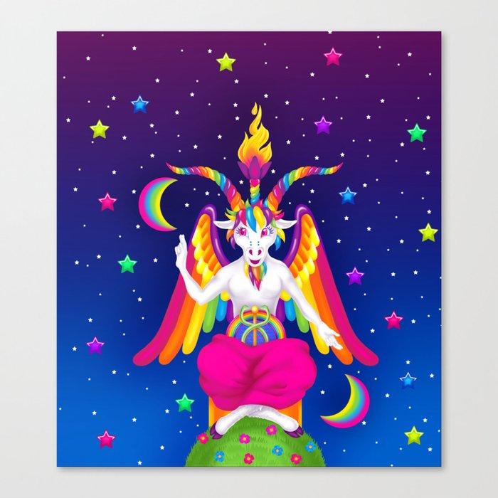 1997 Neon Rainbow Baphomet Leinwanddruck