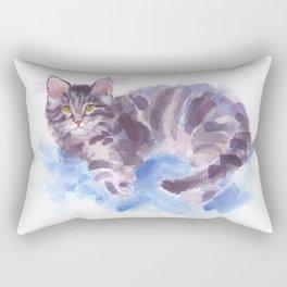 Azure Purr Rectangular Pillow