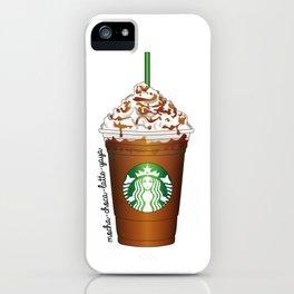 Caramel Frappucino iPhone Case