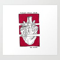 House of Cards in Red  Art Print