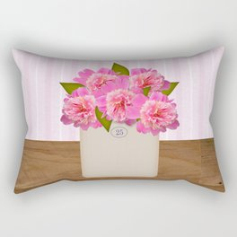 Country Peonies Rectangular Pillow