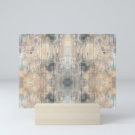 Glitch Vintage Rug Abstract Mini Art Print