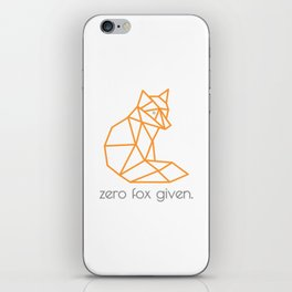 Zero Fox Given iPhone Skin