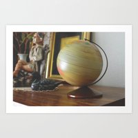 globe Art Prints featuring Globe by dani.rbcc