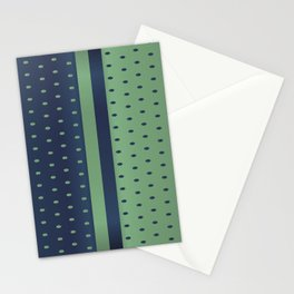 Sage Green and Slate Blue Polka Dots Stationery Cards