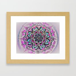 Peacock Mandala Framed Art Print