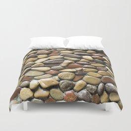 Wall pebble pattern Duvet Cover