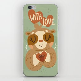 With Love From A Sloth iPhone Skin