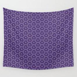 Feminine Energy Deep Purple and Lavender Lines Female Spirit Organic Wall Tapestry