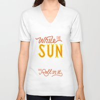 sunshine V-neck T-shirts featuring Sunshine by Wharton