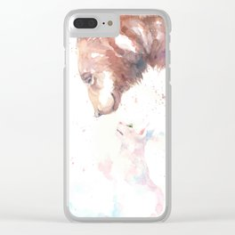 The bear, the cat and the tree of truth Clear iPhone Case