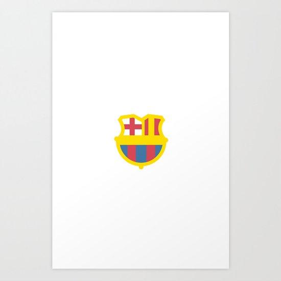 barcelona logo Art Print
