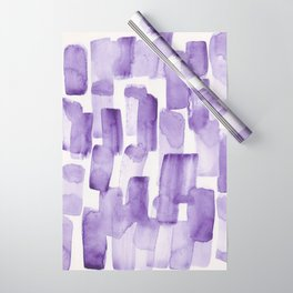 Purple Watercolour Patterns | 190129 Abstract Art Watercolour Wrapping Paper
