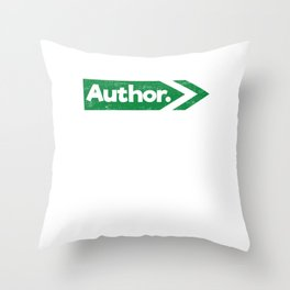 Visionary Future Best Author In The World Dreams And Passion Throw Pillow