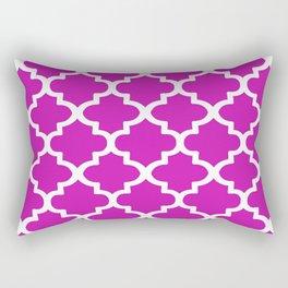 Arabesque Architecture Pattern In Pink Rectangular Pillow