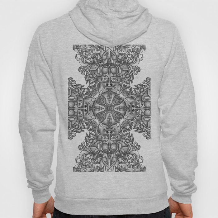 black, white and gray  Hoody
