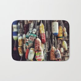 Colorful Buoys Bath Mat