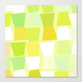 Tiptoe Through the Trapezoids Geometric Abstract Canvas Print