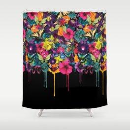 Flowers Melting Shower Curtain