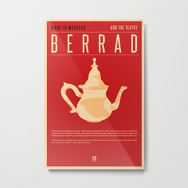 MADE IN MOROCCO #09-THE TEAPOT Metal Print
